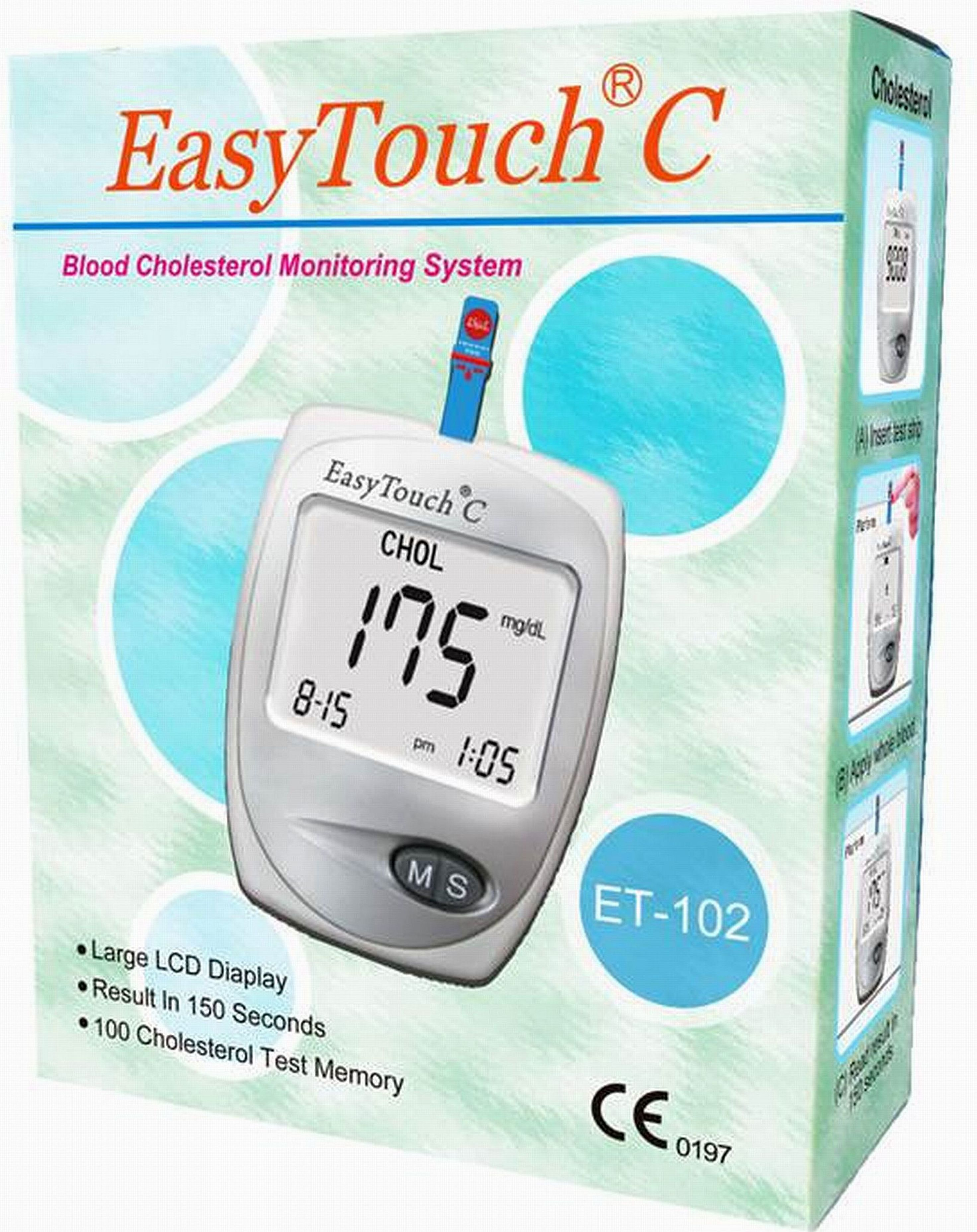 Hemoglobin Test Kit Easy Life Et123 Microzones Touch Glucose 25 Strip Cholesterol Et102